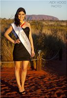 At the crowning ceremony of Miss World Australia 2012