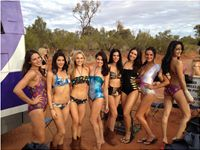 Shooting swimwear in the dessert for Miss World Australia 2012