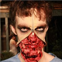 """Evil Surgeon makeup for the short film """"Bully"""" - close up"""