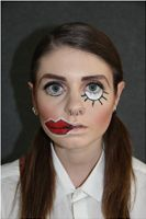 """Theatre makeup for the character Jill in the theatre show """"Crave - A Takeaway Show"""""""