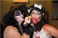 Glamour witch makeup & Latex zombie makeup