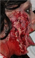 Facial Wound for a Zombie makeup