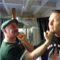On Set with Steve Collins in Rooney's Gym London.