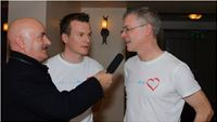 Conducting a live interview with G.A.A. Players at an event in Ireland.