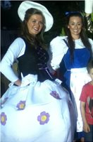Me as mrs Potss in beauty and the beast with the lovely Belle