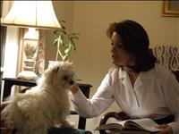reading with dog