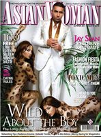FRONT COVER OF ASIAN WOMAN MAGAZINE WITH INTERNATIONAL SUPER STAR JAY SEAN