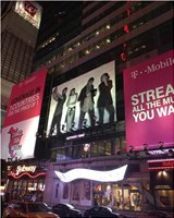 TMobile BillBoard in Times Square