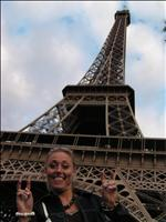 Lisa visiting the Eithal Tower before her Paris Show