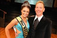 Miss Wellington 2009 and Glenn London - Pageant Director