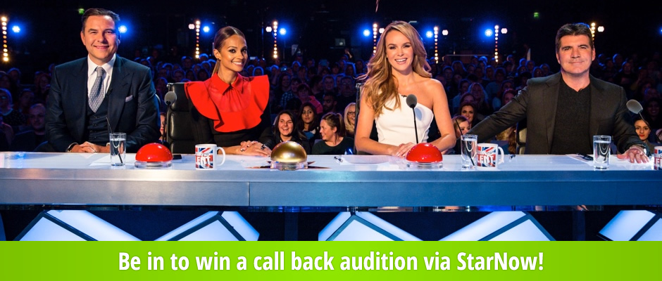 Britain's Got Talent is back–be in to win a call back audition via StarNow!