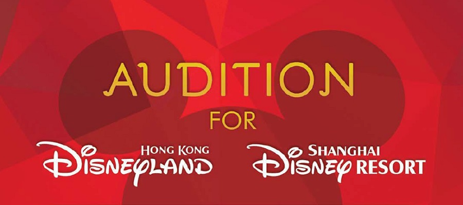 Character Lookalike Auditions for HK Disneyland & Shanghai Disney Resort!