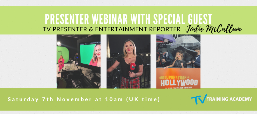 GIVEAWAY - LIVE & Interactive Webinar with Reporter Jodie McCallum