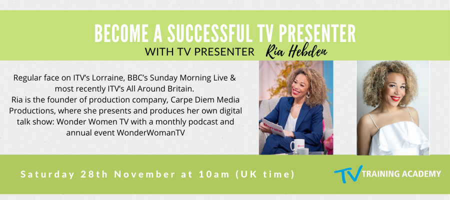 GIVEAWAY- Webinar With ITV Presenter Ria Hebden