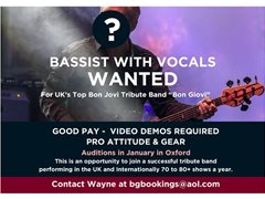 Pro Bassist Required for UK's Top Bon Jovi Tribute Band