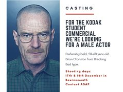 Male Actor Needed for Kodak Commercial Student Competition