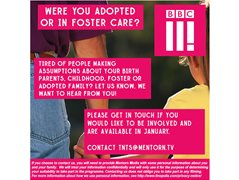 BBC3 are Looking for People Who Have Been Adopted/Fostered