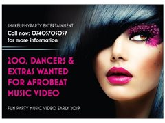 Dancers and Extras Wanted for Afro Beat Music Video