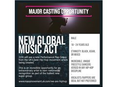 Hip-Hop Artists Needed for New Rap Performance Super-Group