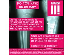 BBC3 are Looking for People with Dwarfism