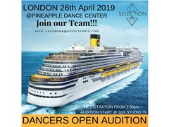 Open Dancers Audition for Cruise Line on April 26th