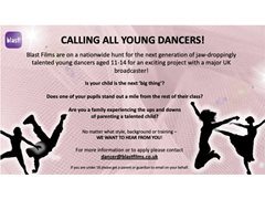 Calling All Young Dancers Aged 11-14