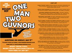 Actors Needed for Hit Comedy One Man Two Govnors