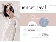Female Influencers Over 20k Following Wanted