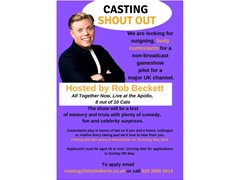 Non-broadcast Gameshow Pilot with Rob Beckett