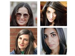 Natural Brunettes Starting to Get Grey Hairs for Major Hair Brand
