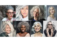 Women with Naturally Silver Hair (Print Only)