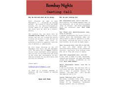 Actors for 'Bombay Nights' Pilot