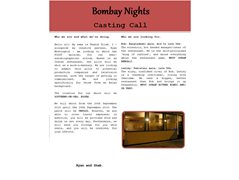 Bombay Nights - Two Roles Required