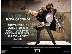 "Now Casting for the FOX dating show ""Flirty Dancing"""