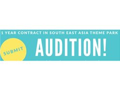 Musical Theatre Performers Wanted for South East Asia Theme Park