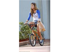 Young Fit Female Model that can Ride a Push Bike