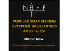 Popular Soap Seeking Young Extras- LIVERPOOL
