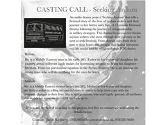 Two Actors Required to Star in a 15 minute Audio Drama