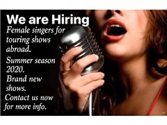 Female Singers for Brand New Shows Abroad