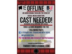 Voice Actors Needed for a Graduate Audio Drama Called 'Offline'