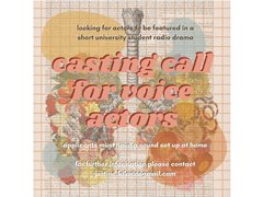 Voice Actor Wanted for Short Student Radio Drama