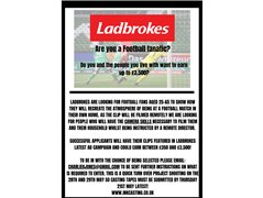 Actors Needed for Ladbrokes Advert - £3500 Usage