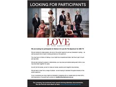Participants wanted for new series of  'Love On The Spectrum'.