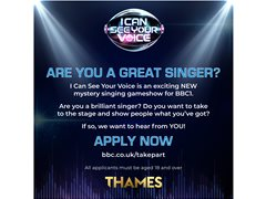 Amazing Singers Needed for New BBC1 Singing Gameshow