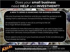 Small Business Owners Wanted for Business Investment Series