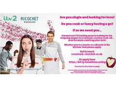Singletons Needed for Brand New ITV2 Dating/Cooking Show