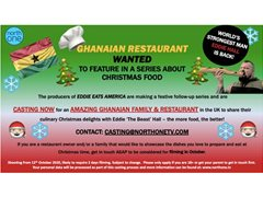 Amazing Ghanaian Family & Restaurant Wanted for Food Series