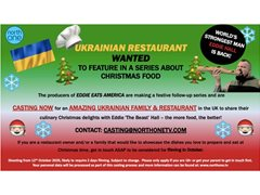 Amazing Ukrainian Family & Restaurant Wanted for Food Series