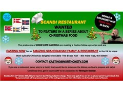 Amazing Scandi Family & Restaurant Wanted for Food Series