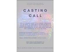 Male Actors Needed for LGBTQ+ Student Short Film